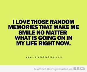 memories, quote, and smile image