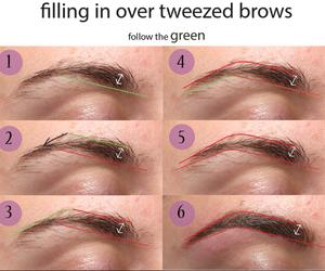 eyebrow, makeup, and beauty image