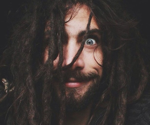 dreads, beard, and dreadlocks image
