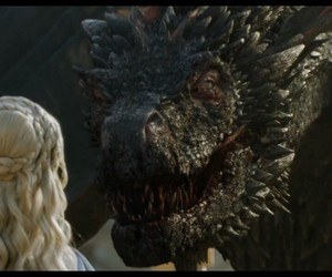 game of thrones, drogon, and daenerys targaryen image
