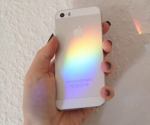 iphone, rainbow, and tumblr image