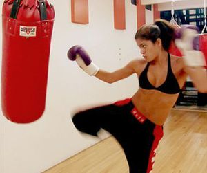 fitness, girl, and kickboxing image