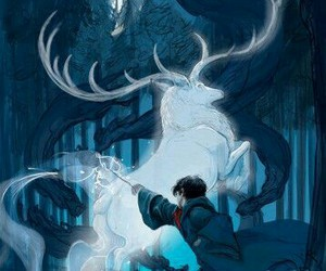 harry potter, book, and patronus image
