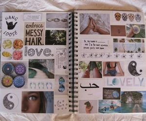 Collage, notebook, and school image