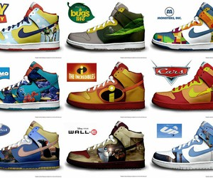 nike, disney, and shoes image