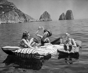 summer, black and white, and friends image