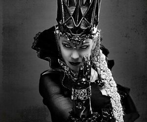 black and white, evil, and Queen image
