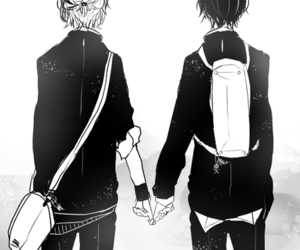 holding hands, boyxboy, and yaoi image