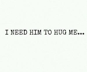 him, hug, and i image