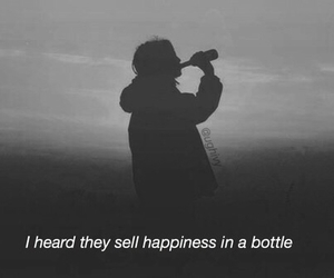 happiness, sad, and bottle image
