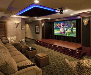 arquitetura, cinema, and home theater image