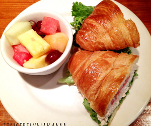 croissant, diet, and fresh image