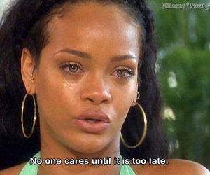 rihanna, quotes, and care image