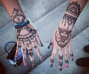 black, fashion, and hands image