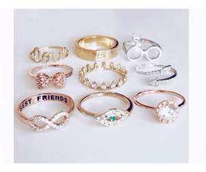 rings, ring, and gold image