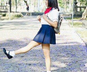 asian, school girl, and cute image