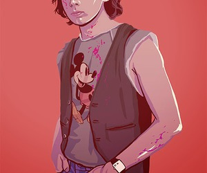 the walking dead and carl grimes image
