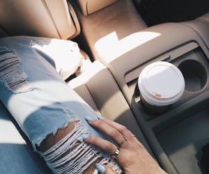 jeans, coffee, and car image