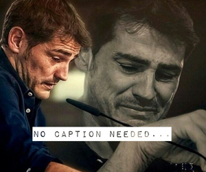 crying, real madrid, and iker casillas image