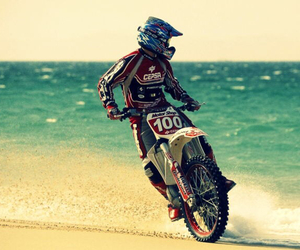 beach, motocross, and boy image