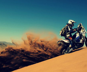 dirtbike, rider, and motocross image
