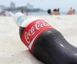 coca cola, beach, and coca-cola image