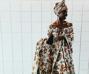 African, beauty, and dress image