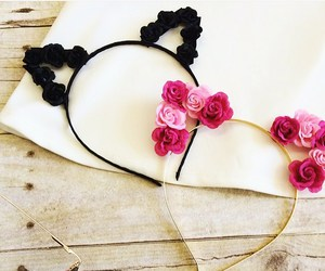 accessories, black, and pink image