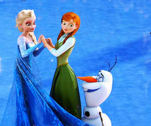 olaf, anna, and frozen image