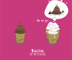 cool, ice cream, and racism image