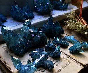 crystal, girl, and blue image