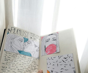 drawing, art, and journal image