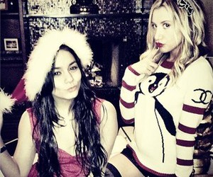 ashley tisdale, vanessa hudgens, and christmas image