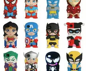 case, batman, and spiderman image