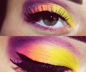 makeup, cool, and eyes image
