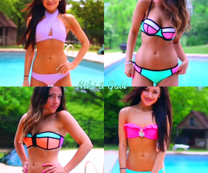 beauty, bikini, and brunettes image