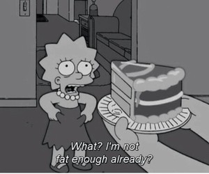 fat, cake, and simpsons image