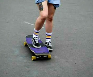 girl, indie, and longboard image