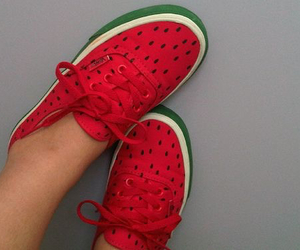 shoes, vans, and watermelon image