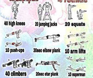 exercises, fitness, and plank image