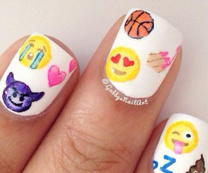 emoji and nails image