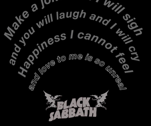 Black Sabbath, Lyrics, and music image