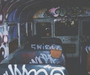 grunge and bus image