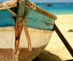 boat, beach, and summer image
