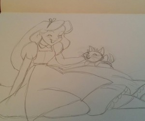 alice in wonderland, animation, and art image