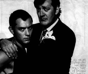 fry, jude law, and stephen fry image