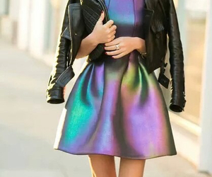dress, fashion, and jacket image