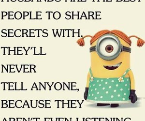 minions, funny, and husband image