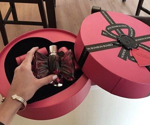 perfume, black, and bow image