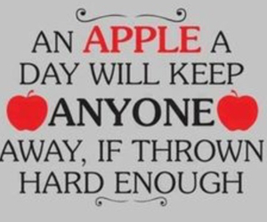 apple, funny, and quotes image
